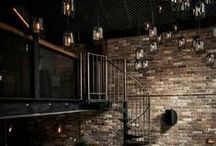 Natural Decor / Rustic Chic. Industrial inspired. Natural Elements. Wooden Accents. Bringing the outdoors inside