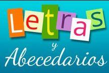 Las letras / Abecedario / Fichas educativas para aprender las letras