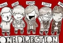 """One Direction xxx / Follow this board if u smile when you eat carrots and cupcakes, see Superman and Batman on TV, wear stripes and suspenders, hear someone saying """"Vas Happenin'""""........"""