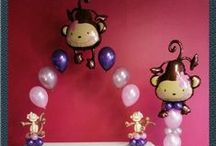Monkey theme baby shower / by Rosielloons