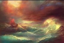 Boat seascape