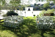 Toowong Rowing Club Garden Weddings / Wedding ceremony; reception set ups and photo shoot options in the Rowing Club surrounding gardens, lawns and pontoon.
