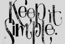 Simplify / by Jenny Kiesewetter
