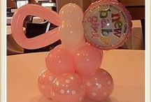 Girl baby shower balloons /  Baby shower balloons made by Rosielloons