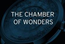 The Chamber of Wonders / Open the door of the Chamber of Wonders and discover unique timepieces featuring stone marquetry, papyrus and micro-painting, to celebrate the Métiers d'Art and the cabinets of curiosities made in GP.
