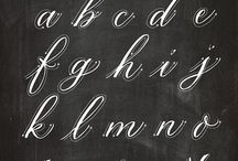 Lettering and fonts