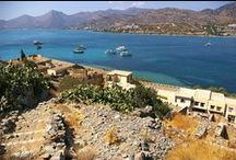 Spinalonga Island / The ancient city of Olus (Elounda), Mirabello Bay and the views from the island of Spinalonga