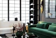 Dark + Dramatic / Decor inspiration with dramatic flair and dark colours.
