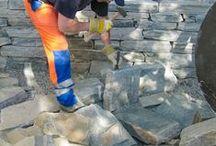 Luonnonkivirakentaminen / Kuvia kivirakenteiden rakennusvaiheista.