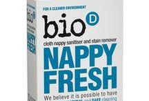 Lavagem / Detergentes e sabões indicados para a lavagem das suas fraldas reutilizáveis e roupa do seu bebé.