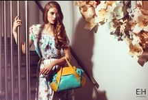 ENIHORN SS2015 Campaign / There are two worlds fusing in the new spring-summer ENIHORN collection. One of them was inspired of the garden of Monet Giverny with softer colours and silhouettes and there we have a bold, stronger side which was inspired by skyscrapers and a modern city jungle.  The leather bags are coming in amazing colours which will get the attention of everyone during the spring and summer.