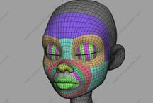TopologyFlow / Examples of Good Topology for Deformation and Animation