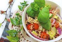 SALAD IDEAS / HEALTHY FOOD. GREEN SALAD. EASY RECIPES. EASY SALAD IDEAS
