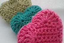 Heart: crochet and more / Szív, szívecske: horgolt és egyéb DIY