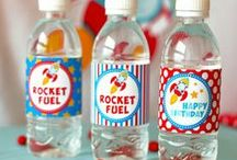 Rocket Birthday Party / 3...2...1...Blast Off! Entertain your future astronauts with a Rocket Space Party.