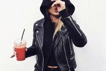Clothes, black leather