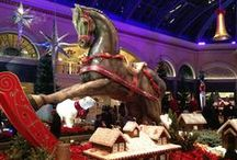 """Vegas Holiday Hangouts / The What's On staff put together a list of some of their favorite places (in no particular order) to be in Las Vegas during the holiday season. Here we have pinned them for everyone to see! Who said Vegas couldn't be a """"Winter Wonderland?!"""" / by whatsonlasvegas"""