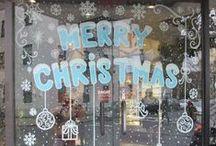 Christmas Window Painting 2014 / Window Painting for all seasons.