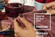 Pantone 2015 Color - Marsala