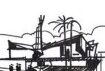 Cid Fiúza Horta / Este painel tem a pretensão de reunir uma parte da obra do arquiteto CID FIÚZA HORTA. Cid Horta foi formado pela Escola de Arquitetura da UFMG em 1965. Participou da Bienal de Arte de São Paulo em 1968, teve diversos projetos publicados em diversos revistas nacionais e internacionais.  Desenvolveu vários trabalhos em Portugal  em 1973.  Lecionou Arquitetura e Urbanismo na Universidade de Uberaba de 1991 a 2001 aonde foi nomeado Doutor Honoris Causa.
