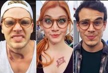 Celebrities wearing glasses / Well, I'm a nerd, in so many levels, so of course I enjoy watching this celebs wearing glasses like if they were one of mi kind.