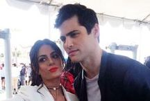 """{Matt&Em} SHADOWFRIENDSHIP / The Family who slays together stays together.  Matthew Daddario: """"[Emeraude Toubia] third best sister I've ever had!"""" Emeraude Toubia: """"I get to be his sister like we look exactly the same"""""""
