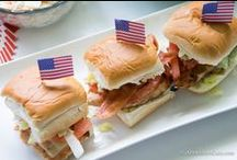 Labor Day: Bringing Home the Bacon / Bacon recipes for party food, desserts and beverages for young and old.