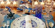 Holiday Tablescapes / Tablescapes celebrating Christmas, Hanukkah and Kwaanza