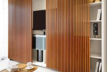Sliding wall ideas for our TV area