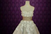 Tea Length Wedding Dresses / Ieie's Bridal's vintage inspired retro 50s 60s timeless tea length knee length short wedding dresses collection
