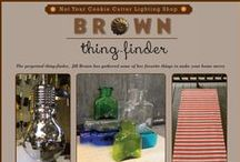 Thing-finder by Brown / The perpetual thing-finder,  Jill Brown has gathered some of her favorite things to make your home merry and bright
