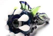EyeWorm Pipes / Eye Worm Glass Pipes made by Kravin Glass