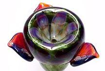 Slides / Glass 14mm & 14mm Slides made by Kravin Glass