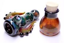 Hitters / Glass Hitter Pipes made by Kravin Glass