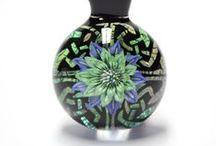 Kimmo Glass / Glass Flower Pendants by Kimmo Glass