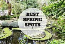 Destinations printanières / Où voyager au printemps et quoi faire? Voici une sélection de lieux à visiter cette saison! Where to travel during springtime.
