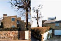 Danske arkitekters huse / Realdania Byg har gennem de senere år opkøbt flere af vores store arkitekters egne huse. Husene restaureres i arkitektens ånd, men opdateres samtidig. Husene lejes alle ud.