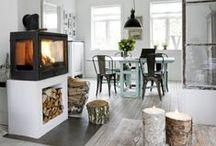 kominek, koza- fireplace