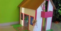 particle board dollhouse / How to make dollhouse.