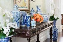 Blue & White Vibes / It's not just for your grandmother's china anymore.