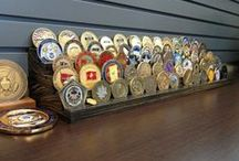 Military Challenge Coin Holder / A Simple design for you to show off your military challenge coin collection.