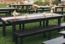 Vineyard Tables / A look at custom made 8'x4' vineyard tables. You can custom design one to your specifications.