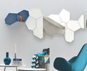 Blue / Interiors and furniture with blue colors