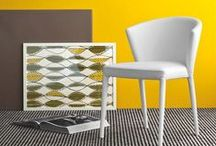 Yellow Orange / Interiors and furniture with yellow colors