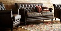 Leather Sofa / Interiors with leather sofa