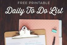 Productivity & Self Improvement / Resources to help you be more productive, time management tools, daily to do printables, and ways to be a better you!
