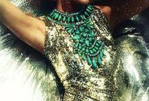 MetaLLic Chic / sequences, glitter, gold, studs, spikes, silver and sparkle / by Monica Von Reberg