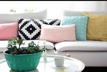 Living Room / LOVE this color palette