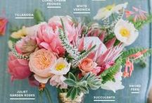 Bouquet Recipes / DIY Flower bouquets- wedding bouquets and pretty cut flowers from the garden