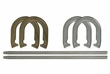 Horseshoe Sets / Introduce your family to the classic outdoor game of horseshoes with one of Franklin's Horseshoe Sets. Perfect for families and friends, horseshoes has been played for centuries. Organize a horseshoe tournament at your next family party or keep a set in your backyard to play whenever. - See more at: http://franklinsports.com/shop
